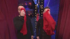 Ant and Dec with red hankies!